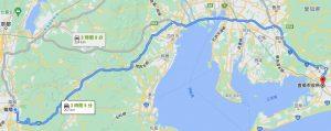 東京海上日動や損保ジャパンの無料搬送距離画像